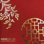 Gold foil on red cardstock