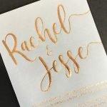 Rose-gold on translucent
